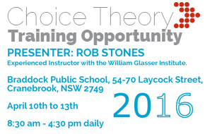 Choice Theeory Training Opportunity