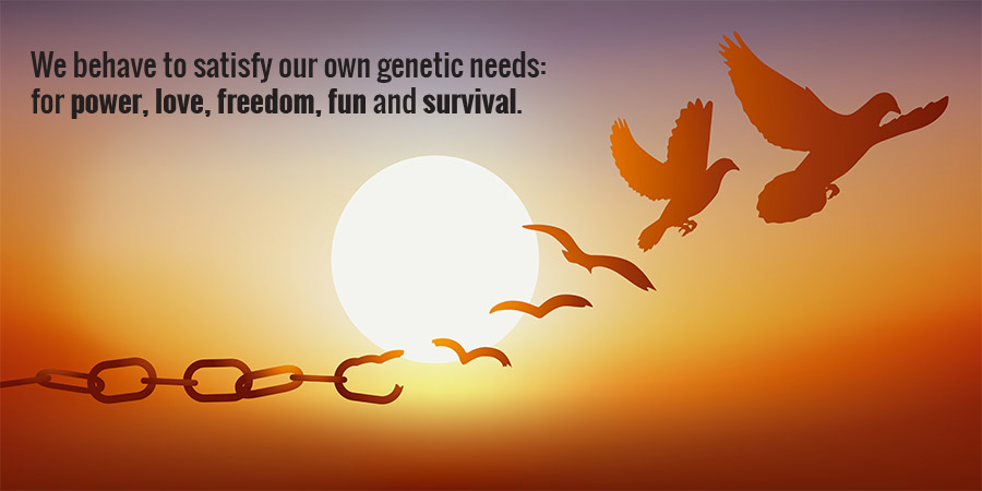 genetic needs: for power, love, freedom, fun and survival